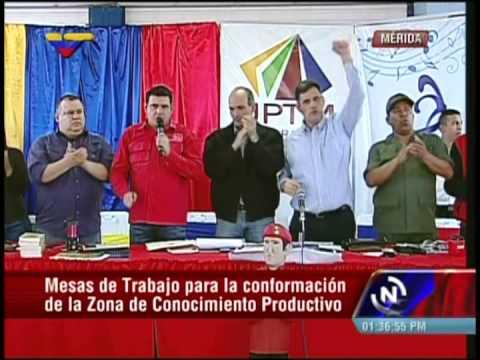 Ricardo Menéndez, Manuel Fernández, Reinaldo Iturriza y Alexis Ramírez en apoyo a Maduro