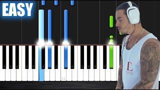 J. Balvin - Ay Vamos - EASY Piano Tutorial by PlutaX