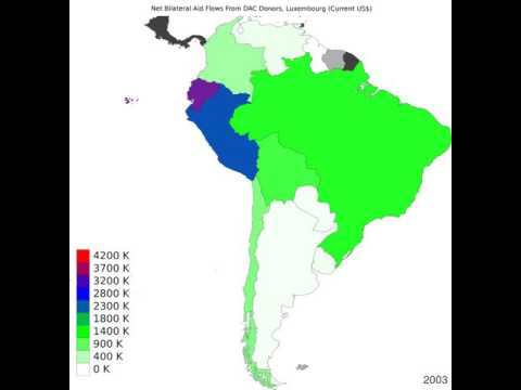 South America - Net Bilateral Aid Flows From Dac Donors, Luxembourg - Time Lapse