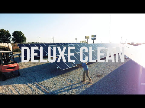 Solar Panel Cleaning by Deluxe Window Care