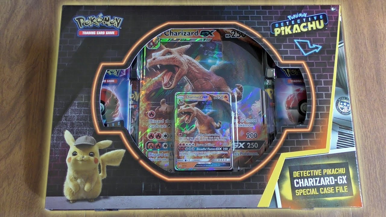 Detective Pikachu Charizard Gx Special Case File Opening Youtube