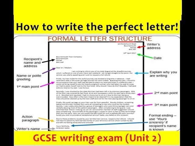 9 1 Gcse English Language Letter Writing New And Updated 2017 Youtube