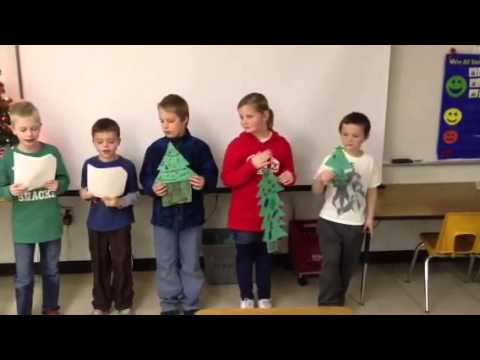 Five Little Christmas Trees poem