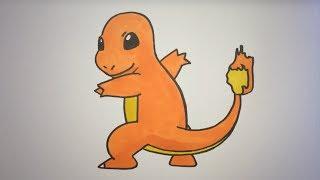 How To Draw Charmander Step By Step (Pokemon)