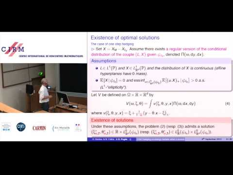 Gilles Pagès: CVaR hedging using quantization based stochastic approximation algorithm