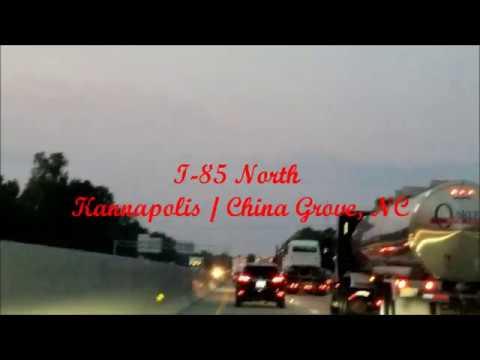 Kannapolis  / China Grove, NC I 85 North Evening Traffic