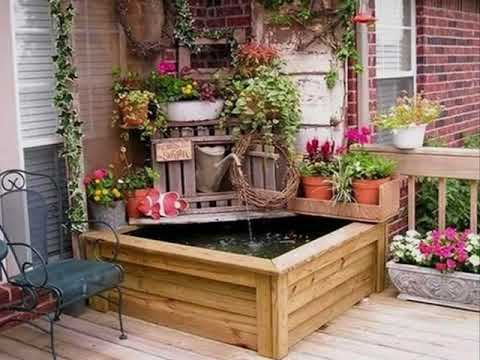 kleine terrasse garten ideen f r sch ne haus youtube. Black Bedroom Furniture Sets. Home Design Ideas