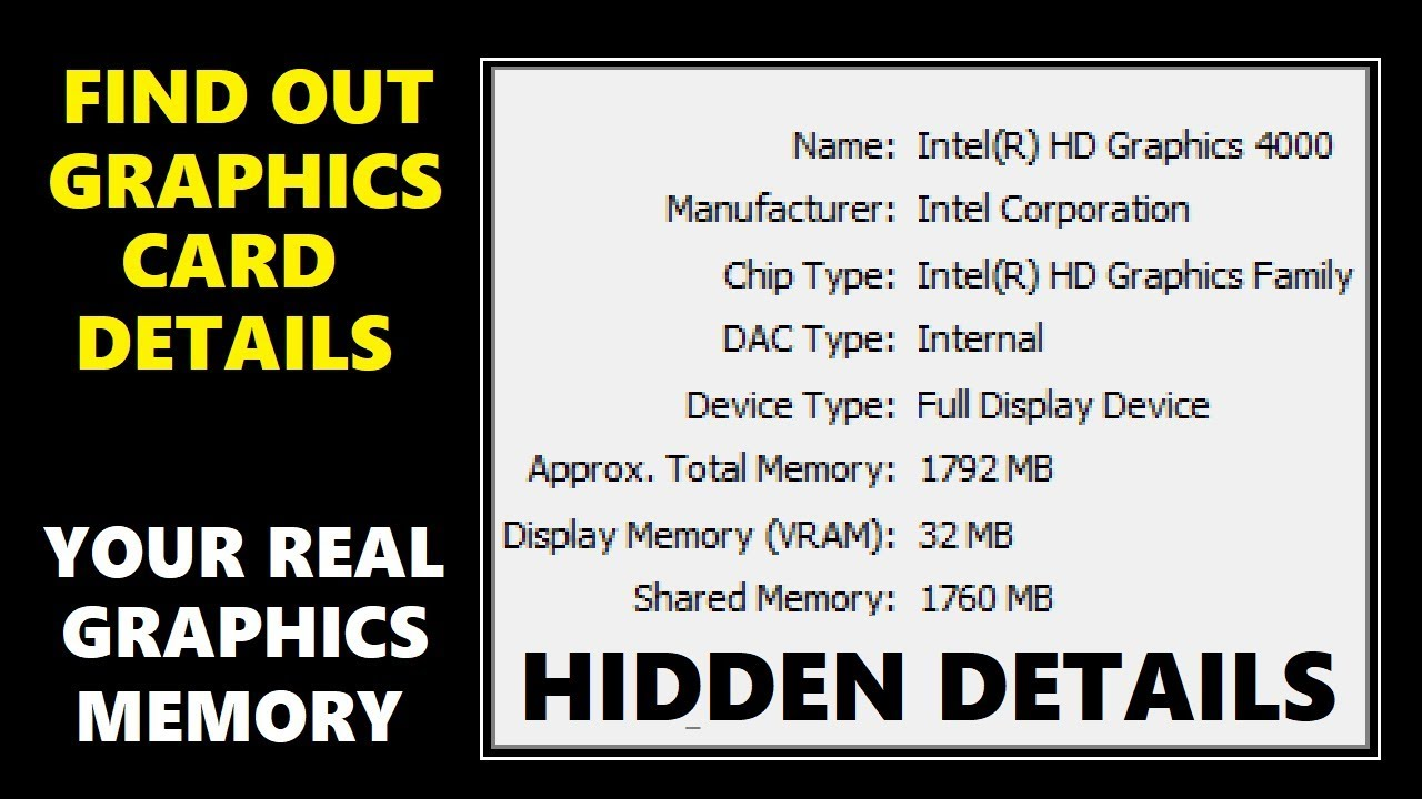Check Graphics Card Windows 10 - Find out Graphics Memory in Your Computer