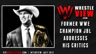 JBL talks about his critics during his run as WWE Champion