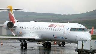 Iberia Air Nostrum New colors CRJ900 EC-JZS Landing at Clermont-Fd Airport [CFE-LFLC]
