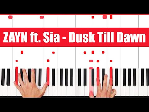 Dusk Till Dawn ZAYN ft. Sia Piano Tutorial - INSTRUMENTAL