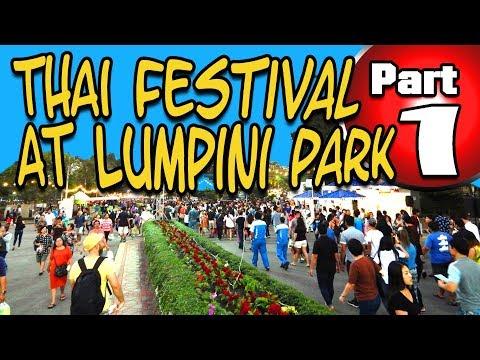 Thai Festival at Lumpini Park in Bangkok Part 1
