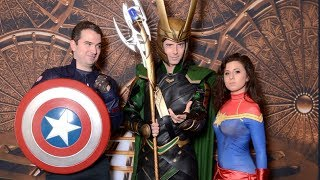 Our Marvel Day at Sea, Characters Everywhere, Loki stare-down! | Marvel Day at Sea Cruise VLOG 4