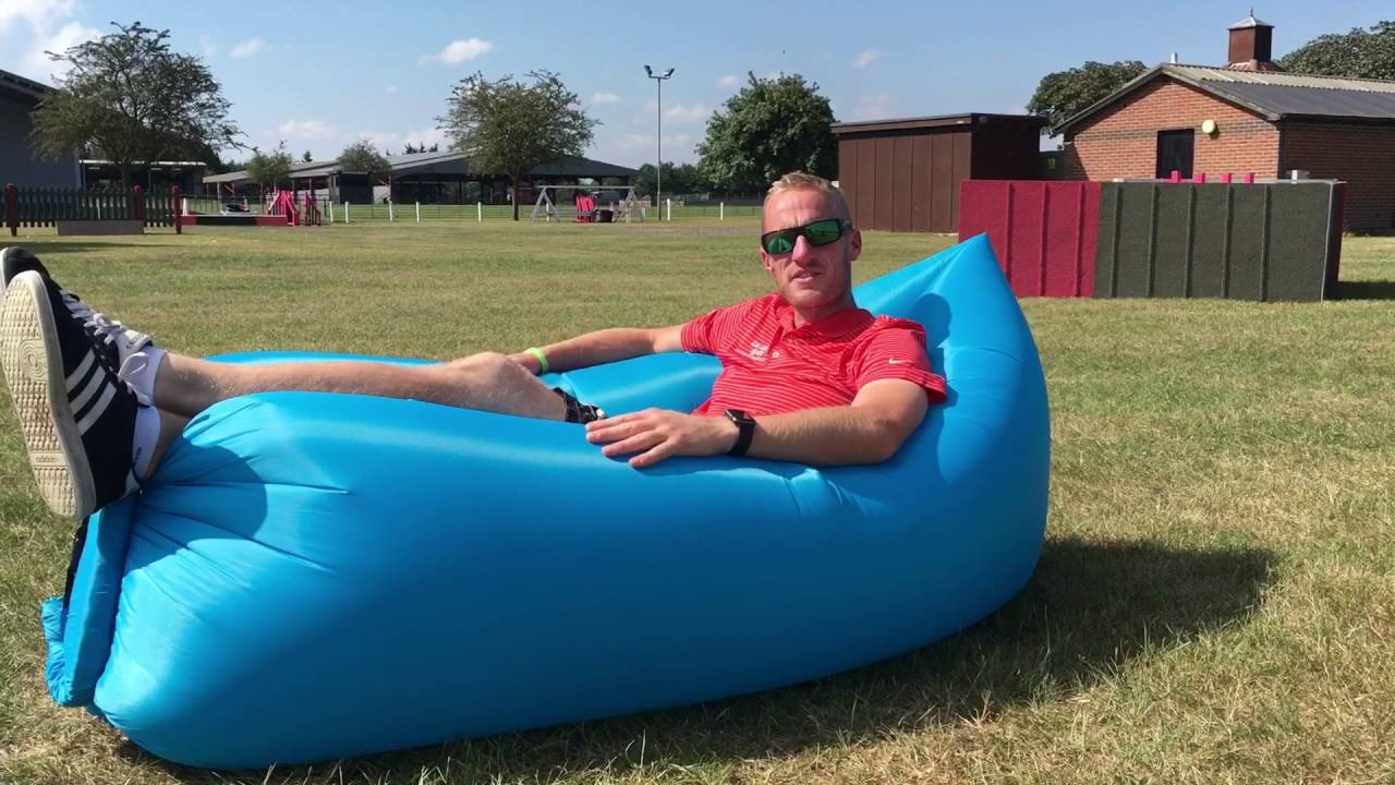 Inflatable Couch Air Lounger Tutorial Youtube