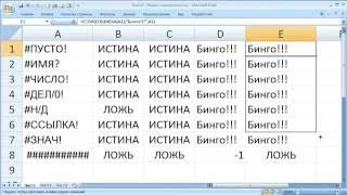 как ... работают функции обработки ошибок вычислений в ячейках Excel