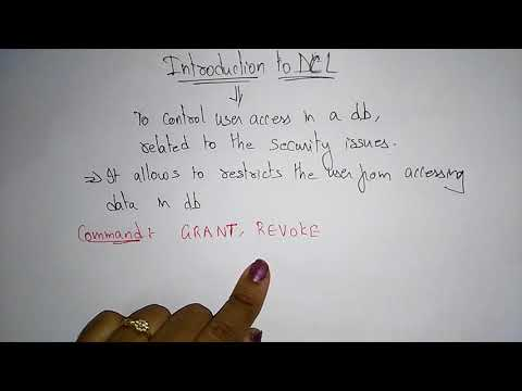 Dcl Commands In Sql With Examples | GRANT, REVOKE |