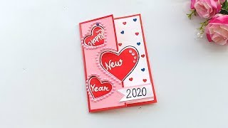 Beautiful handmade happy New year 2020 card Idea DIY Greeting Cards for New Year