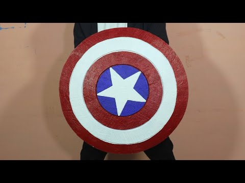 How To Make Captain America's Shield With Cardboard