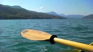 Kayak de mer sur le lac de  Serre Ponçon - Nautiraid Grand Raid Expé