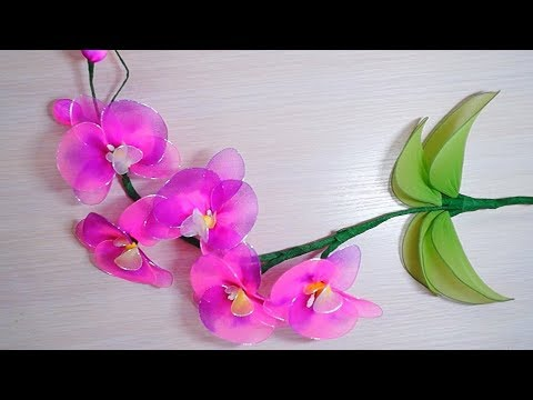 Diy Как сделать Орхидея  из капрона (нейлон)