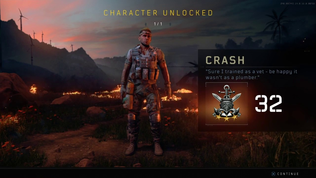how to unlock crash in blackout
