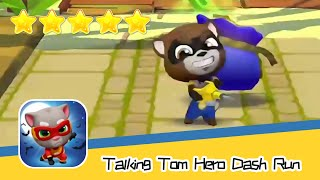 Talking Tom Hero Dash Run Day159 Walkthrough Endless runner Save the world Recommend index five star