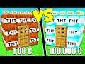 CASA DI TNT DA 1 Contro CASA DI TNT DA 100 000 Su MINECRAFT mp3