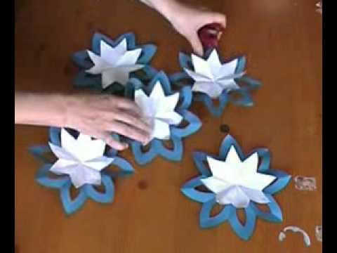 Шар из голубых цветов
