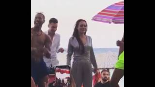 Lindsay Lohan's viral dance moves at her Lohan Beach House Mykonos