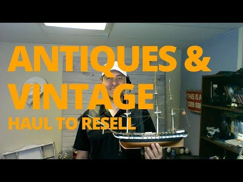 E32 Estate Auction Haul Antiques and Vintage Items to Resell Perfumes Crystals