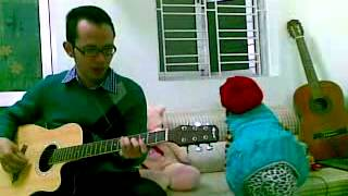 Twinkle twinkle little star guitar with daughter - Michelle