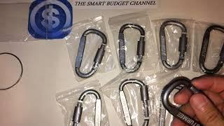 STURME Carabiner Clip Aluminum D-Ring Large Carabiners Clip Set (Amazon Item) Review