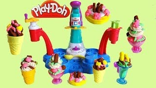 Play Doh Magic Swirl Ice Cream Shoppe Unboxing