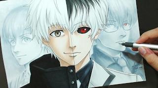 Speed Drawing - Kaneki | Haise (Tokyo Ghoul)