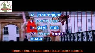 o jane jigar Hindi karaoke for Male singers