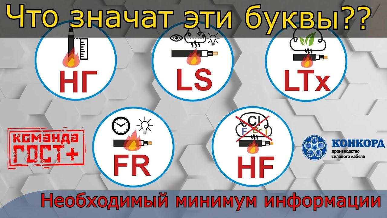 Что значат буквы нг, LS, HF, LTx, FR, (А F/R) на маркировке кабелей. Группы ПБ КПП и их обозначения