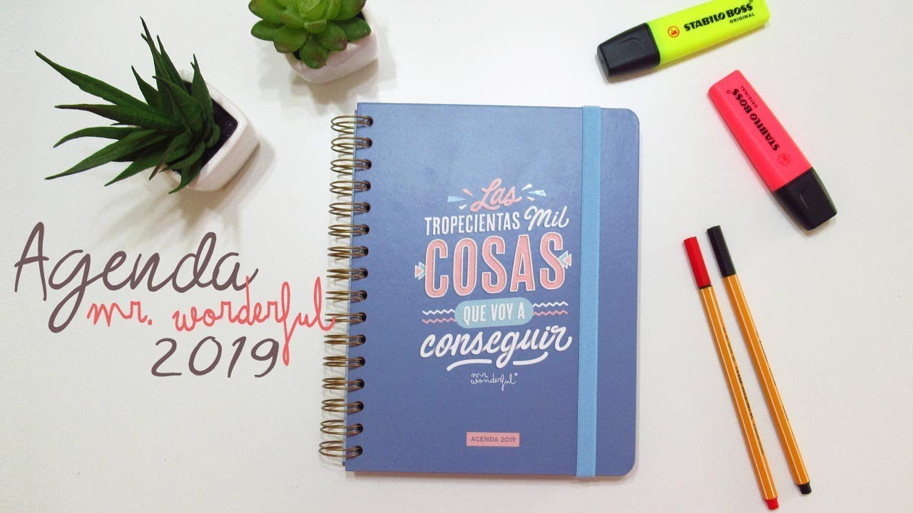 Las Agendas Mr Wonderful
