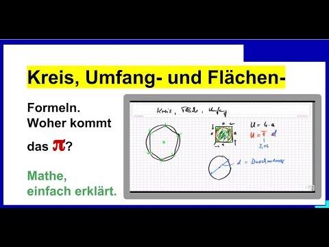 Kreis, Umfang- und Flächen- Formel Woher kommt das \