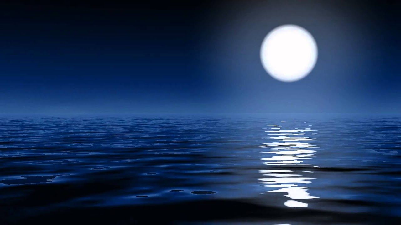 Animated Ocean Wallpaper Moonlight On The Ocean Youtube