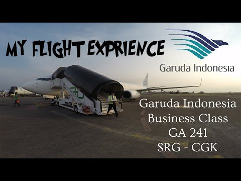 MY FLIGHT EXPERIENCE (FLIGHT REPORT) - E7 - GARUDA INDONESIA BUSINESS CLASS (GA 241) | SRG - CGK