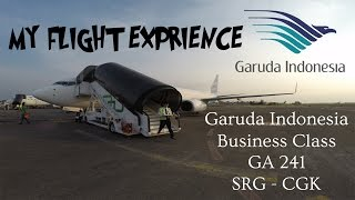 my flight experience flight report e7 garuda indonesia business class ga 241   srg cgk