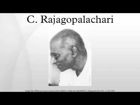 c rajagopalachari essay Ramachandra guha on crajagopalachari - part 1 by the death of chakravarti rajagopalachari this essay first appeared in ramachandra guha's book 'the.