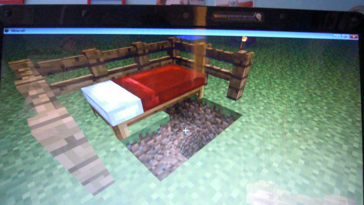 tuto comment faire un lit pour b b sur minecraft youtube. Black Bedroom Furniture Sets. Home Design Ideas