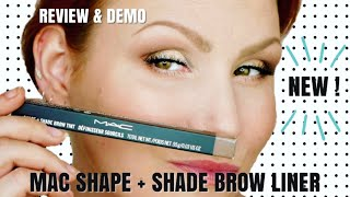 New MAC Shape + Shade Brow Liner Review + Demo