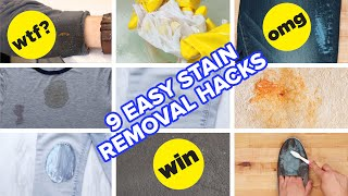 9 Easy Stain Removal Hacks