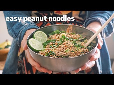 Delicious Coconut Peanut Noodle Recipe - Healthy, Fast, and Vegan!