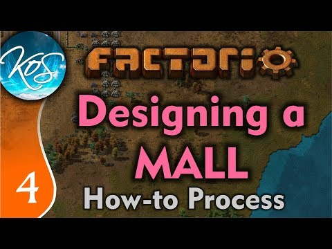 Factorio 0.17 Ep 4: Designing a Mall (Long Form) - Tutorial, How to, Building, Gameplay