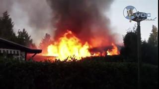 voc lokaal meerdere chalets in brand veenhuizerveldweg putten