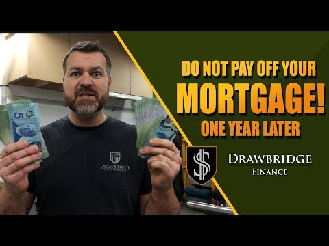 Do NOT pay off your Mortgage!! One year later and I still won't pay it off