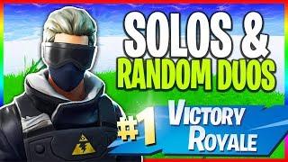 🔴 Solos & Random Duos // NEW Skins (Fortnite LIVE Gameplay)